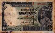 10 Rupees (King George V - 3rd Issue) – obverse