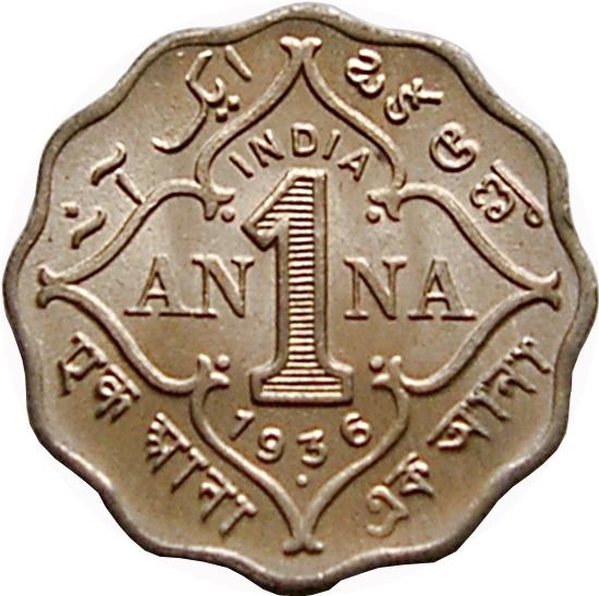 1 Anna George V India British Numista
