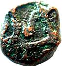 ½ Paisa - Aurangzeb (Surat mint) – obverse