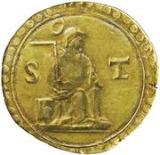 1 Pardau S. Tomé - João III (Cochim mint) – reverse