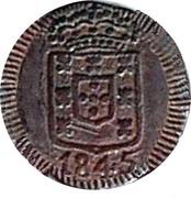 7½ Reis - Maria II (Goa Mint) -  obverse