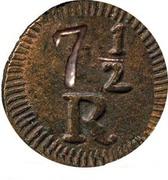 7½ Reis - Maria II (Goa Mint) -  reverse