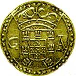 1 Pardau São Tomé - Sebastião (Goa mint) – obverse