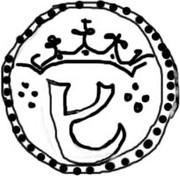 ½ Leal - João III (Goa mint) – obverse