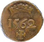 1 Real - Sebastião I (Goa mint) – reverse