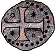 ½ Bazaruco - Sebastião I (Goa mint) – reverse