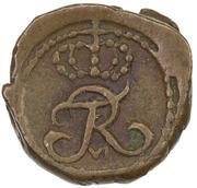 1 Cash - Frederik VI – obverse