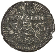 1 Royalin - Frederik V – reverse
