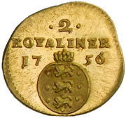 2 Royaliner - Frederik V – reverse