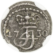 1 Royalin - Frederik IV – obverse