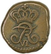 10 Cash - Frederik VI – obverse