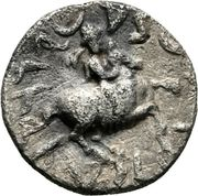 """Drachm - Antimachus II """"the Victorious"""" – reverse"""