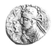 Drachm - Sarpedonus - 12 BC-130 AD (Province of Bannu) – obverse