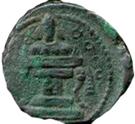 """Pashiz / Unit / Chalkous - """"kushansha"""" Peroz I """"son of Ardashir"""" (under Shapur I) – reverse"""