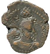 """Pashiz / Unit / Chalkous - """"kushansha"""" Hormizd I (under Shapur I) – obverse"""