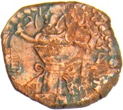 "Pashiz / Unit / Chalkous - ""kushansha"" Hormizd I - 256-264 AD (under Shapur I - Head left) – reverse"