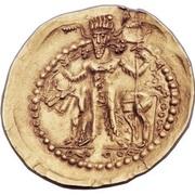 """Dinar - """"kushansha"""" Hormizd I (under Shapur I) -  reverse"""
