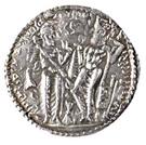 """Drachm - """"kushansha"""" Hormizd I (under Shapur I) – reverse"""