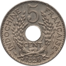 5 Centimes (Thick planchet) – reverse
