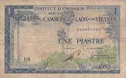 1 Piastre (Cambodia Issue) – obverse