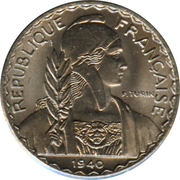 10 Centimes (magnetic) – obverse