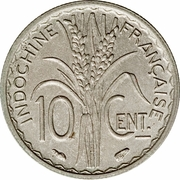 10 Centimes (not magnetic) – reverse