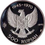 500 Rupiah (Wayang dancer) – obverse