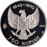 750 Rupiah (Garuda Bird) – obverse