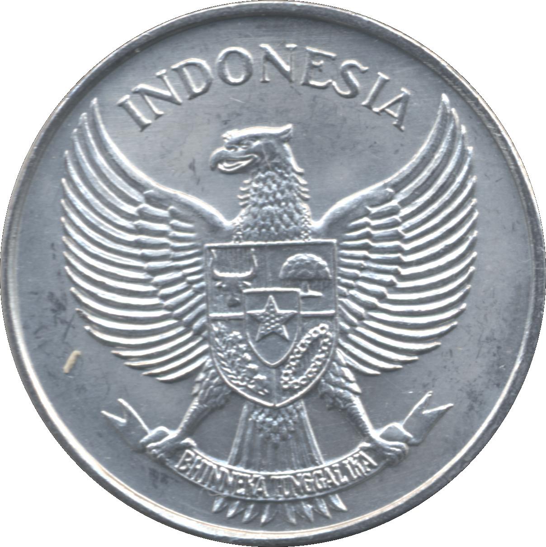 INDONESIA KM11 1955 UNC-UNCIRCULATED MINT ALUMINUM OLD 25 SEN COIN