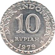 10 Rupiah (FAO) -  reverse