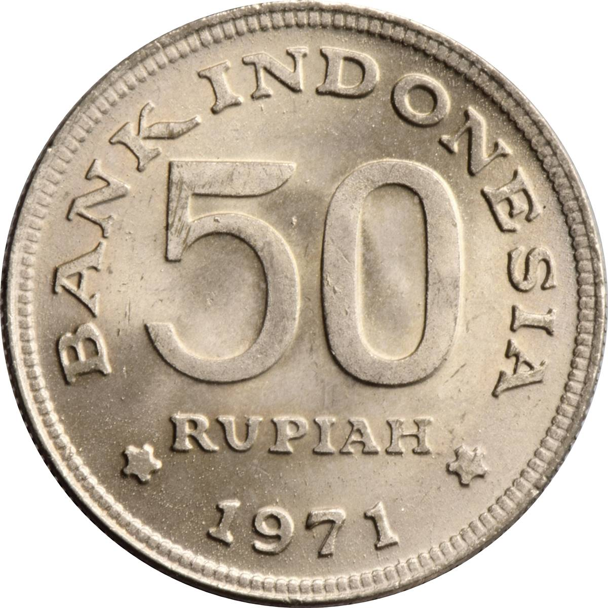 Coins of All Nations Indonesia 25 Rupiah 1971 UNC