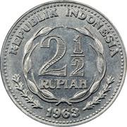 2½ Rupiah – obverse