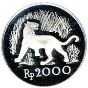 2000 Rupiah (Javan Tiger) – reverse
