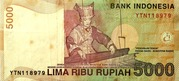 5,000 Rupiah – reverse