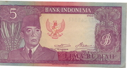 5 Rupiah (Dated 1960, Issued 1964) – obverse