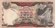 5000 Rupiah 1975 – obverse