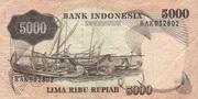 5000 Rupiah 1975 – reverse