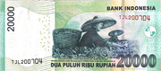 20,000 Rupiah – reverse