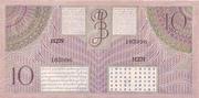 10 Gulden/Roepiah – reverse