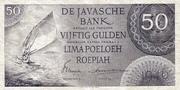 50 Gulden/Roepiah – obverse