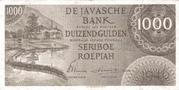 1000 Gulden/Roepiah – obverse