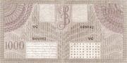 1000 Gulden/Roepiah – reverse