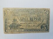 5 Rupiah (Revolutionary Government of the Republic of Indonesia) – obverse