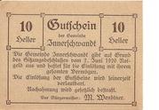 10 Heller (Innerschwandt) – obverse