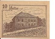 10 Heller (Innerschwandt) – reverse