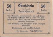 50 Heller (Innerschwandt) – obverse