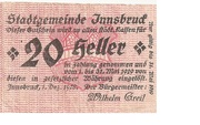 20 Heller (Innsbruck) -  obverse