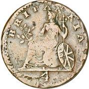 1 Lepton - George IV – reverse