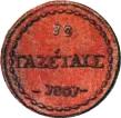 10 Gazettae (Denomination in Greek) – reverse