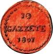 10 Gazettae (Denomination in Italian) – reverse